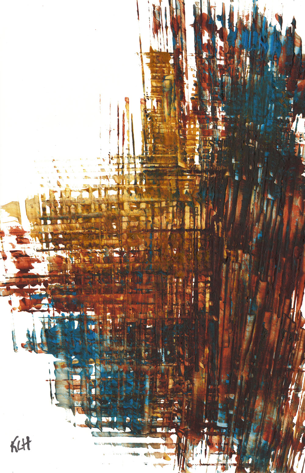 Contemporary Modern Painting Abstract Art Burnt Sienna